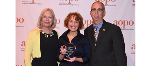 Wroc News8 Rochester Receives Award From Organ Donation
