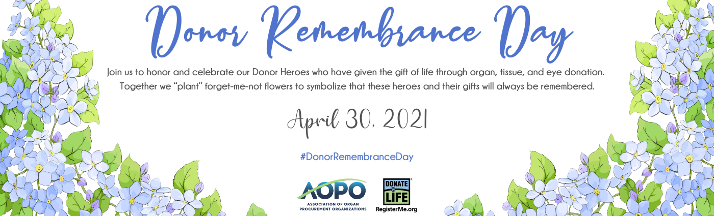 Website Banner Donor Remembrance Day